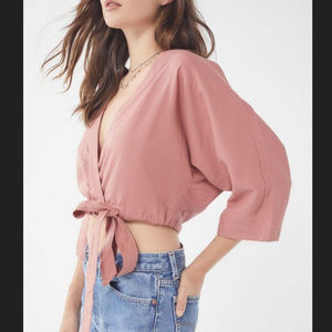 Urban Outfitters Kimmy Wrap Crop Top